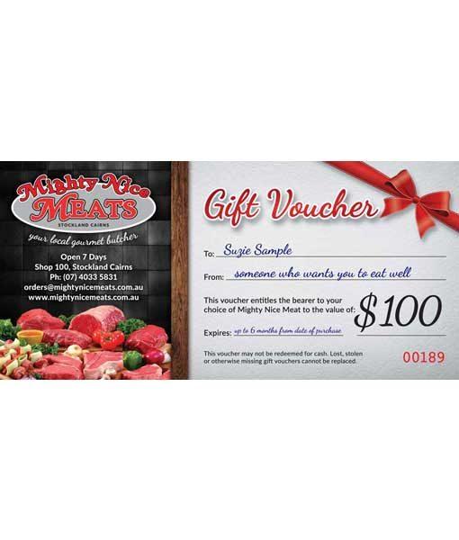 Gift Voucher Butcher Cairns