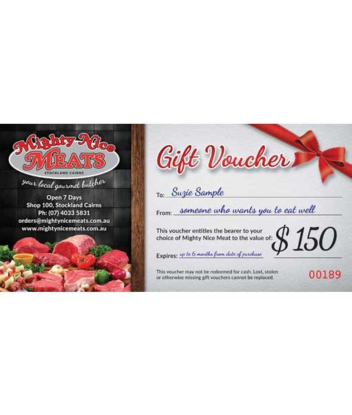 meat gift voucher