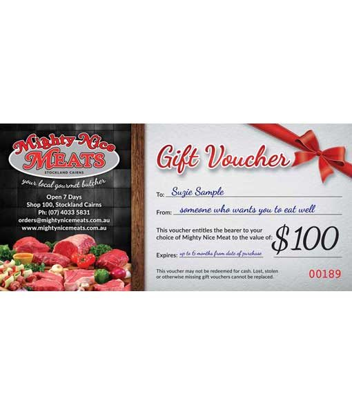 Gift Voucher Butcher Cairns