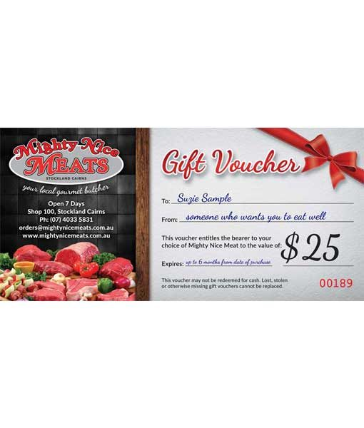 Fresh Meat Gift Voucher