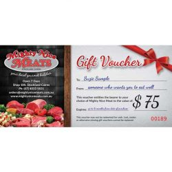 $75 fresh meat gift voucher